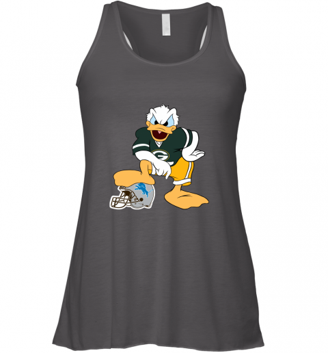 9qmn you cannot win against the donald green bay packers nfl flowy tank 32 front dark grey heather