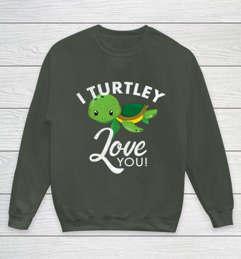 Cute Valentines Turtle I Turtley Love You Valentine Gift Youth Sweatshirt 8
