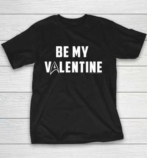 Star Trek Be My Valentine Delta Badge Graphic Youth T-Shirt