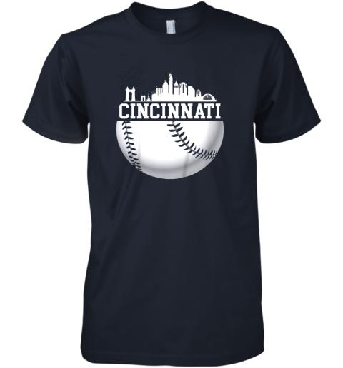 ve5y vintage downtown cincinnati shirt baseball retro ohio state premium guys tee 5 front midnight navy